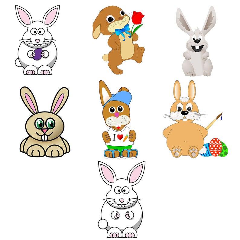 Easter art clip png. Clipart bunny rabbit