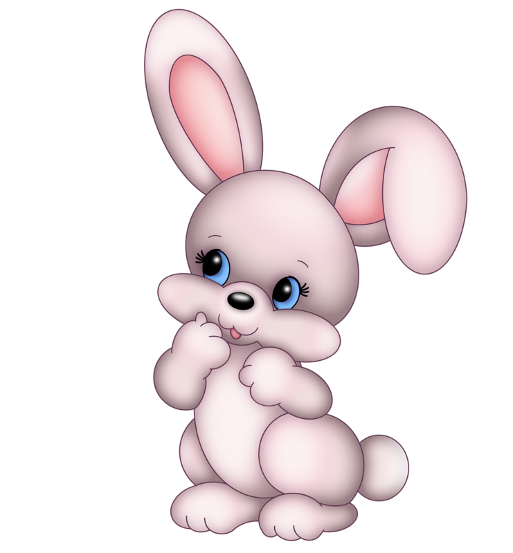 Clipart bunny rabbit. Easter cartoon cuteness clip
