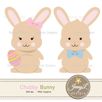 Clipart bunny rabbit. Easter digital papers and