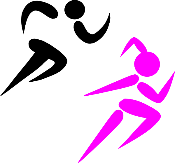 Running girl for free. Exercise clipart injury