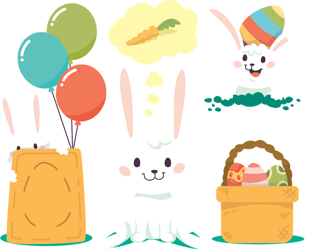 Clipart bunny shabby chic. Cliparts de p scoa