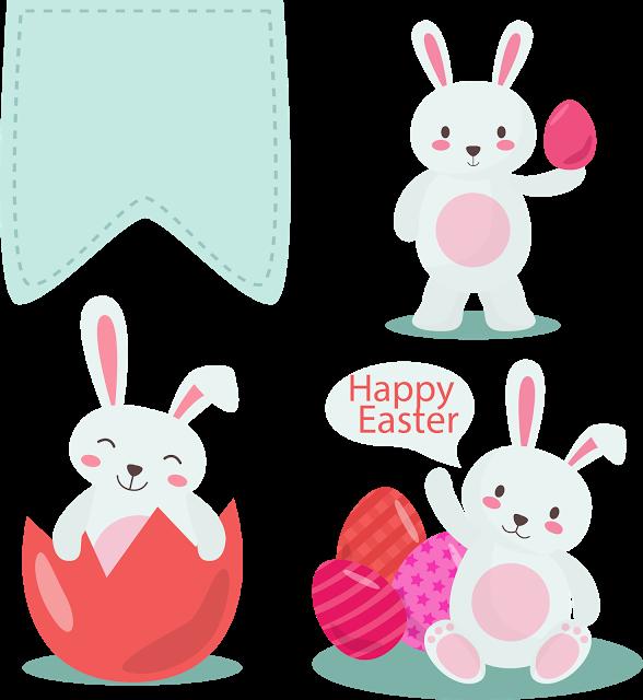 Cliparts de p scoa. Clipart bunny shabby chic