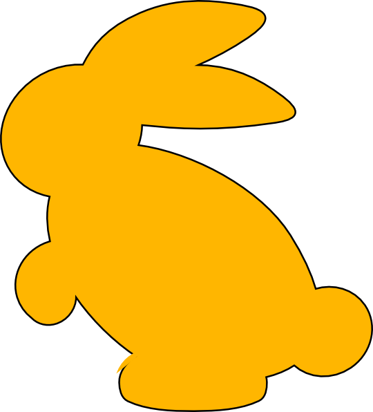 Silhouette clipart easter bunny. Yellow clip art at