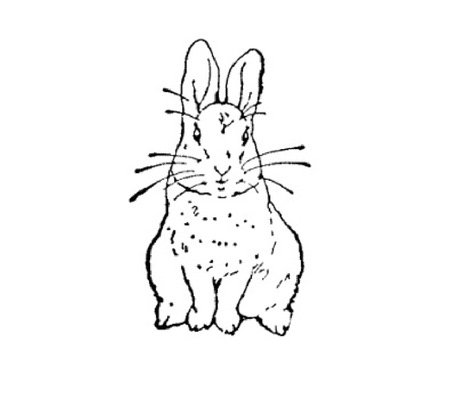 Clipart rabbit swimming. Free saw patterns bunny