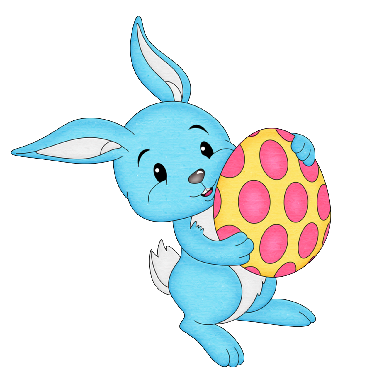Easter blue with egg. Clipart bunny toy