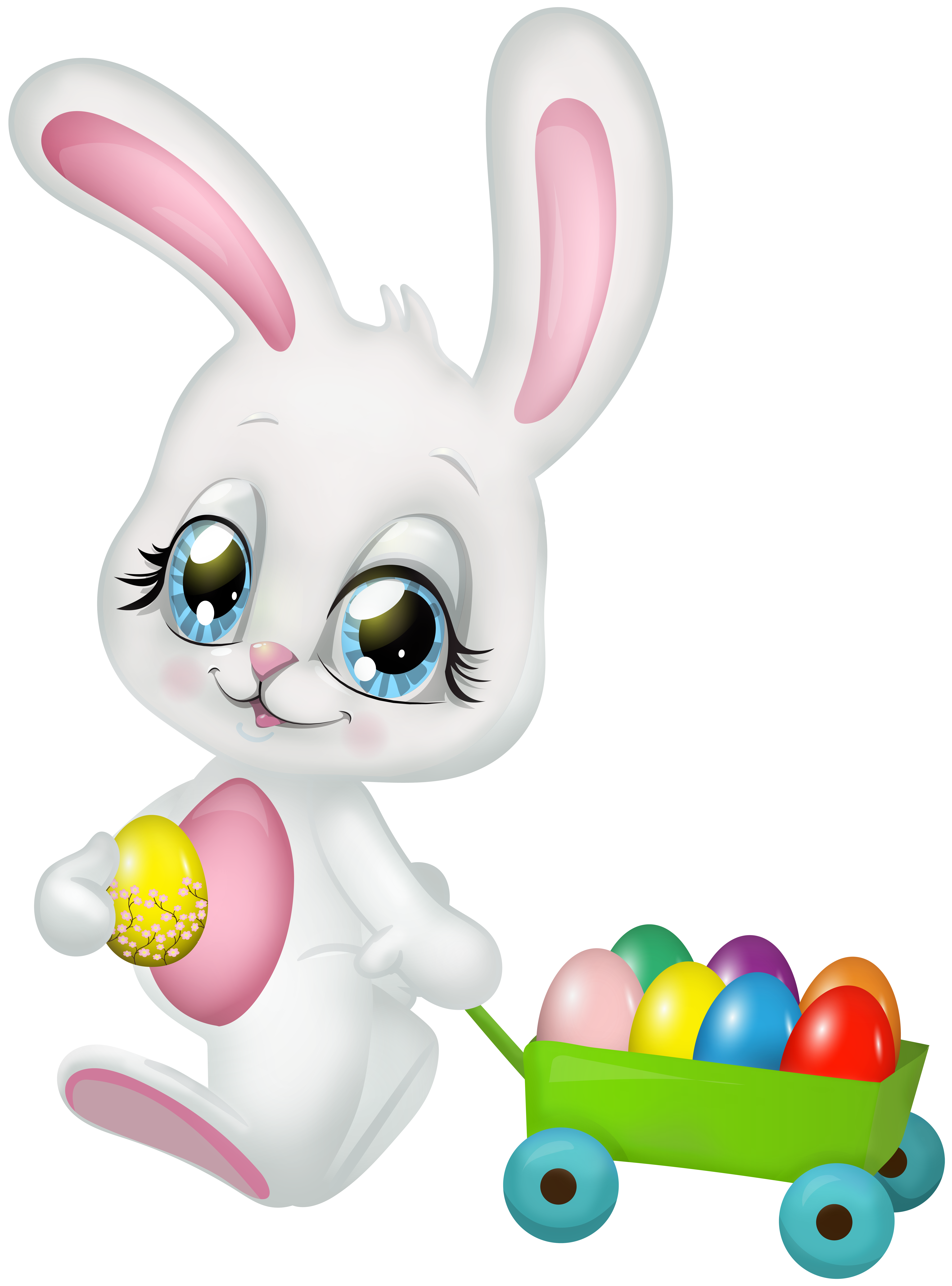 Cute easter transparent clip. Clipart bunny toy