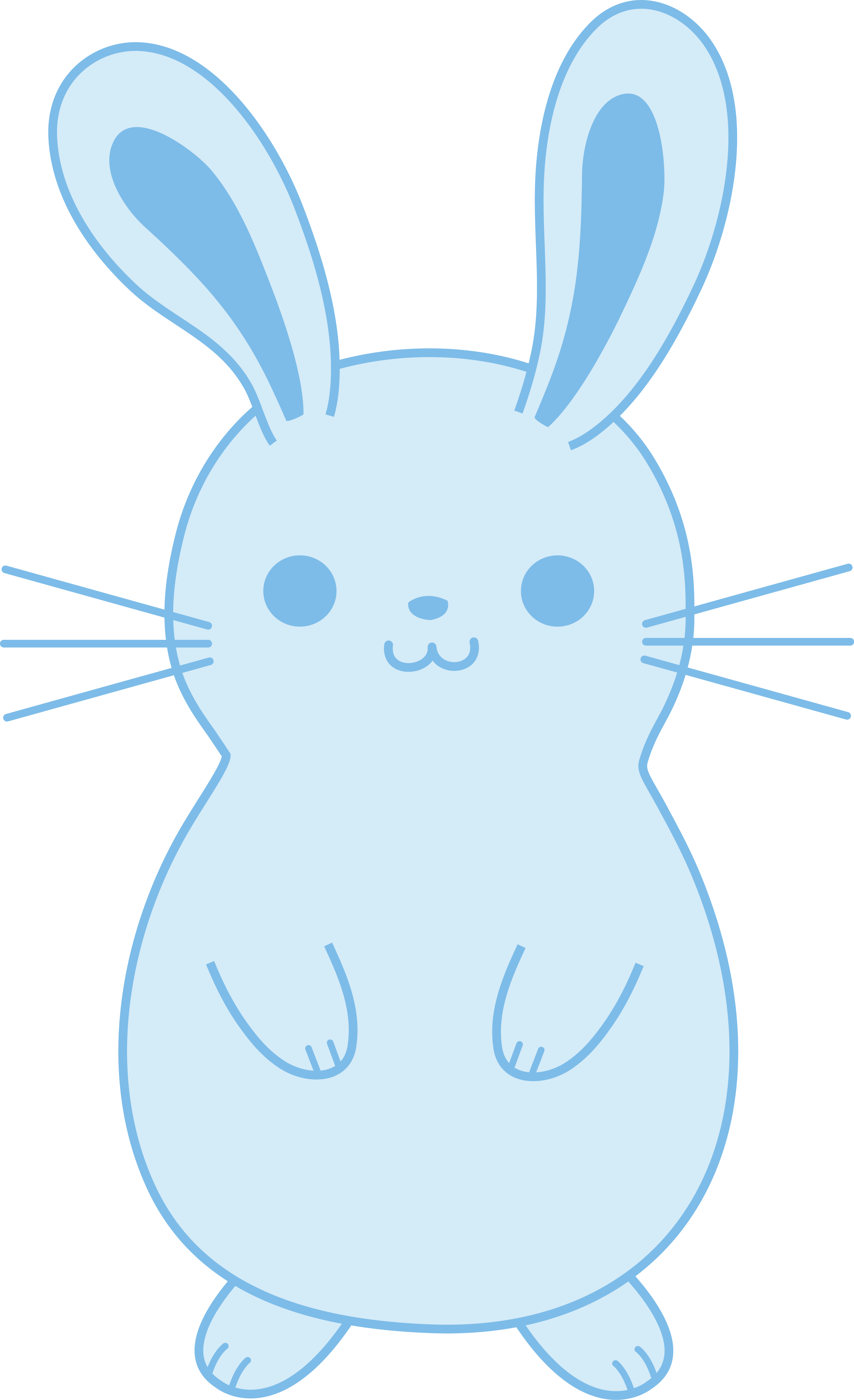 Cute blue easter free. Clipart bunny toy