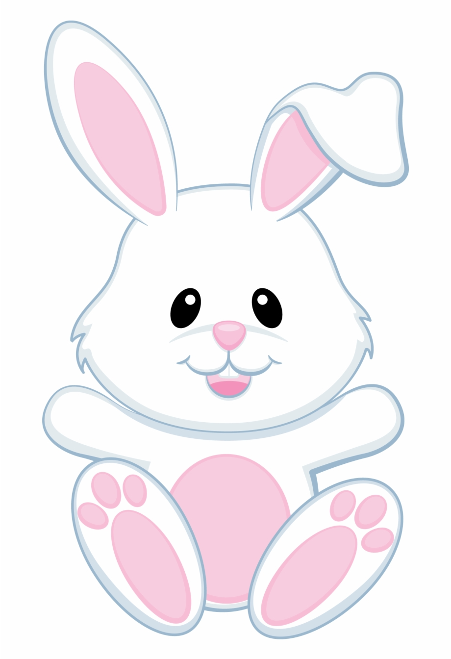 Bunnies modern easter . Clipart bunny transparent background