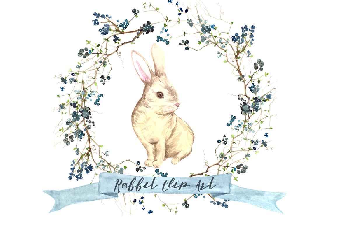 Clipart rabbit watercolor. Clip art and print