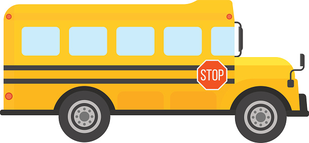 School for kids at. Clipart bus