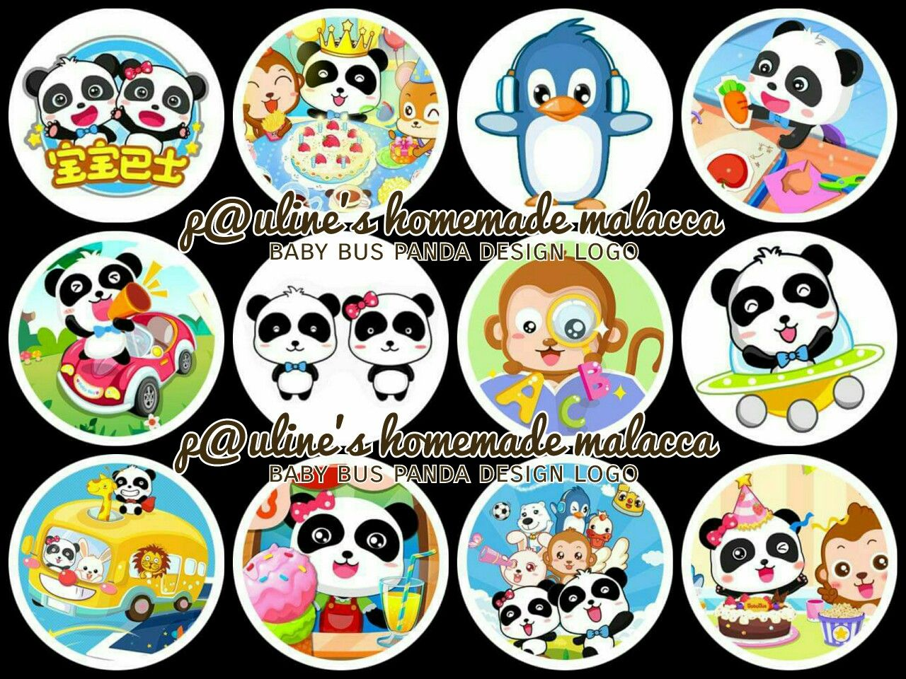 Edible image topper paulineshomemademalacca. Clipart bus baby