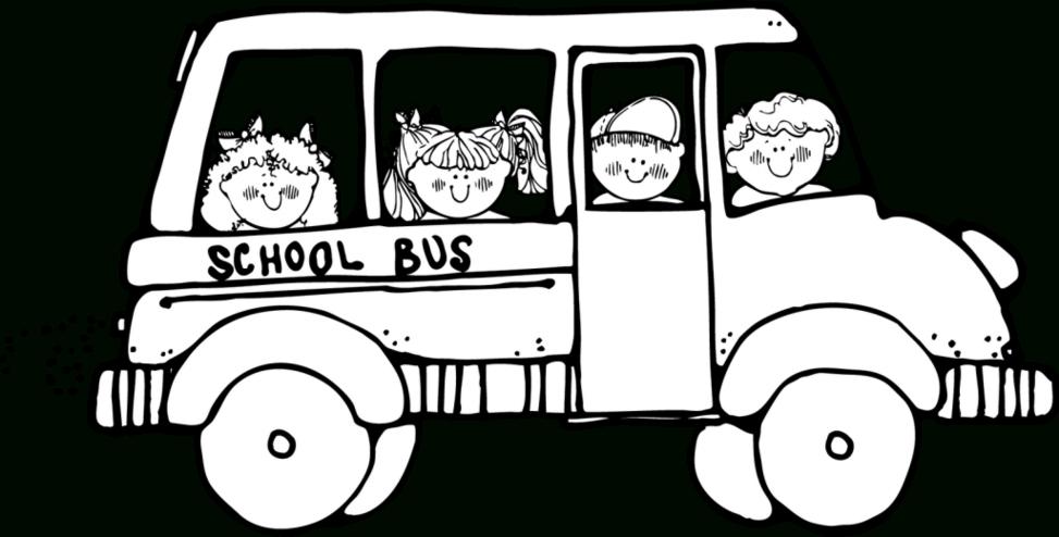 White clipart bus. Black and school clip