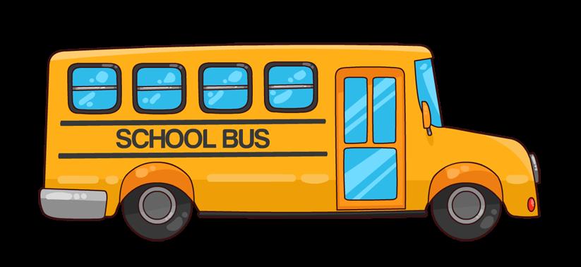 School bus clip art. Driver clipart lady