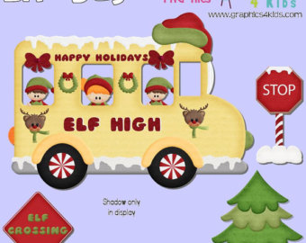 Free cliparts download clip. Clipart bus christmas