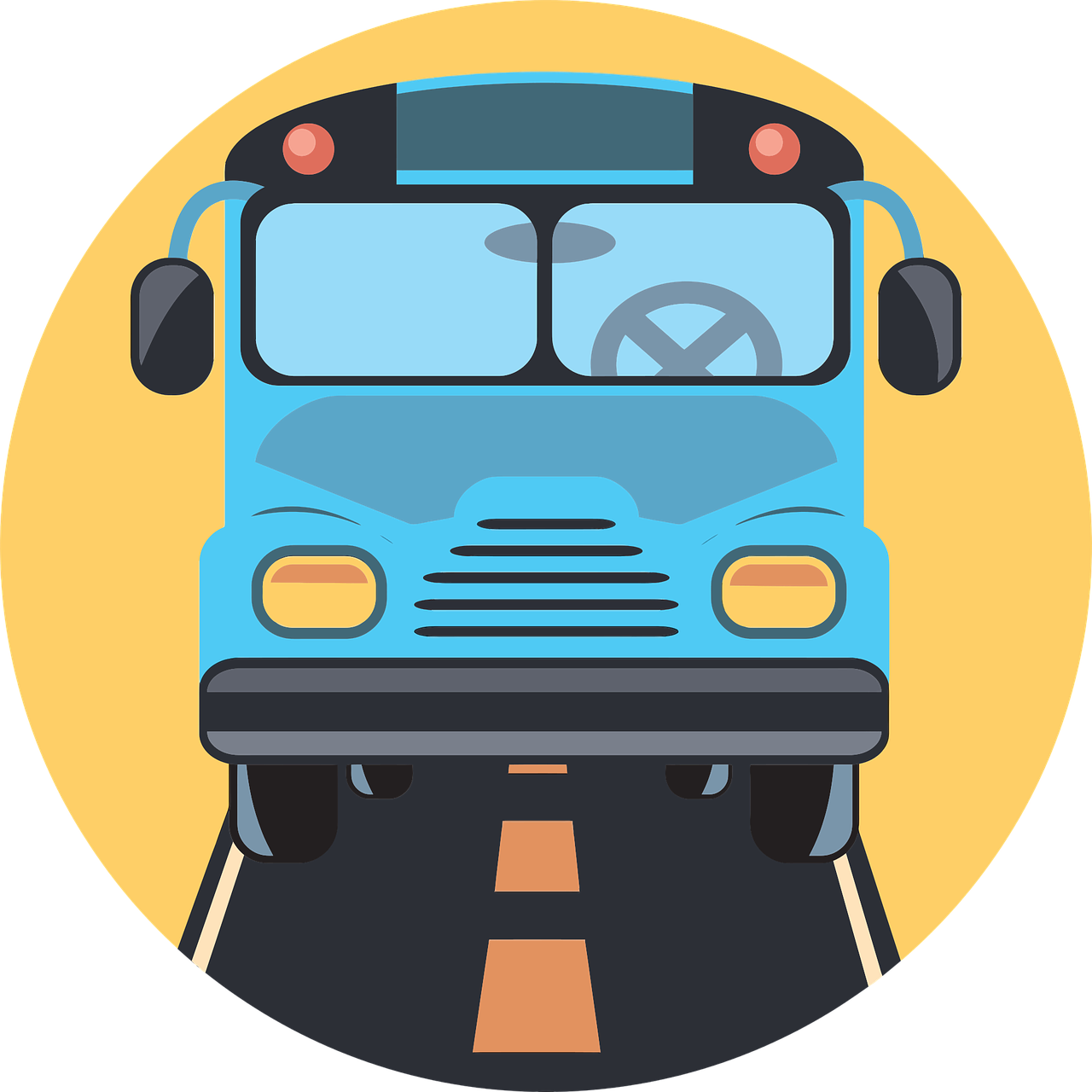 Clipart bus face. Drive icon png image