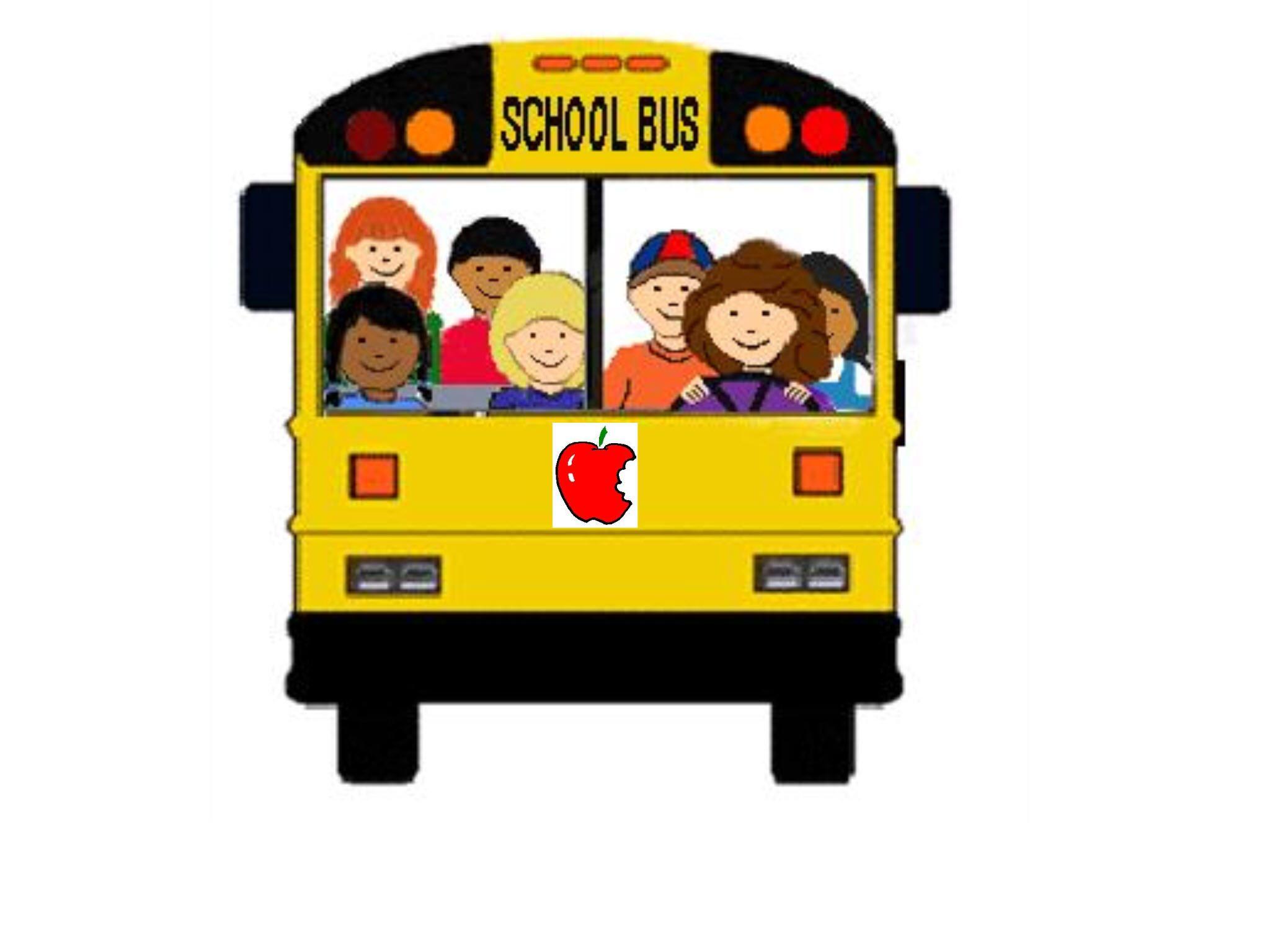 Clipart bus face. Free clip art school