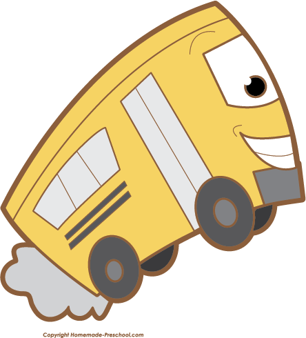 Free school . Clipart bus face