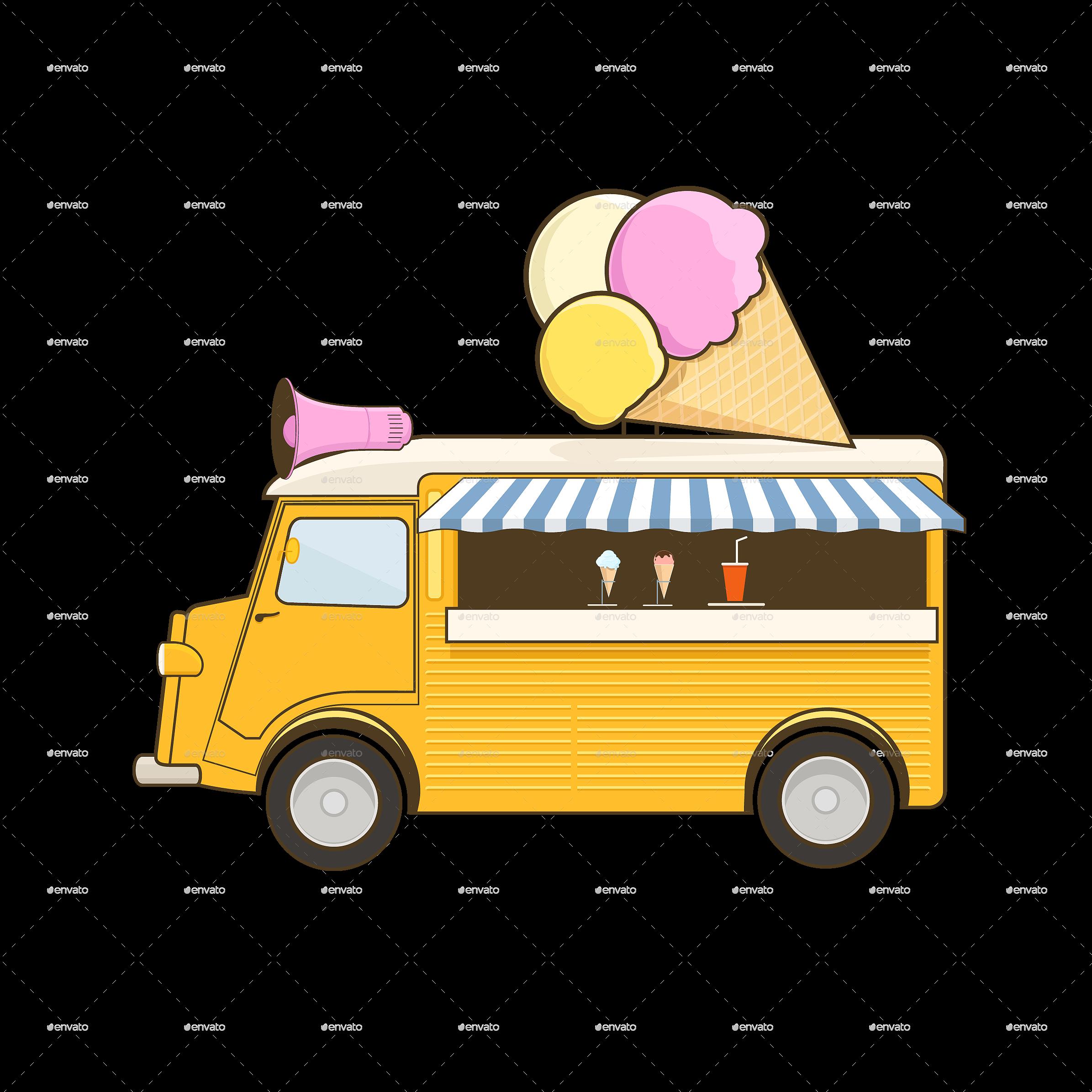Icecream clipart cart. Ice cream truck by