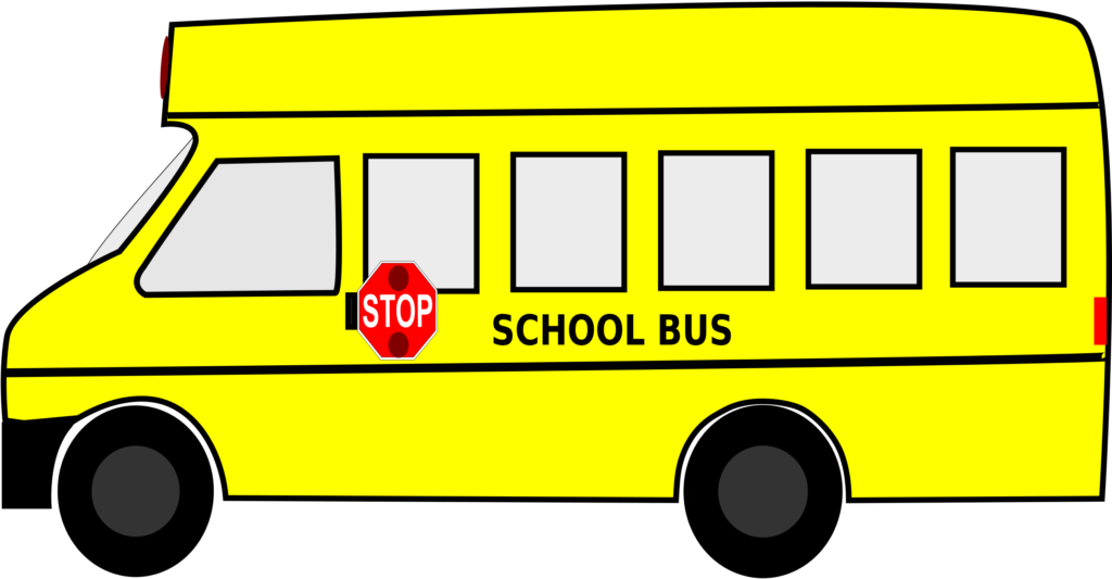 Families clipart bus. Car drawing top at