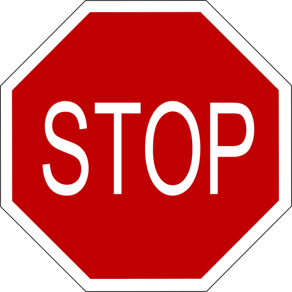 Free stop sign art. Clipart bus library