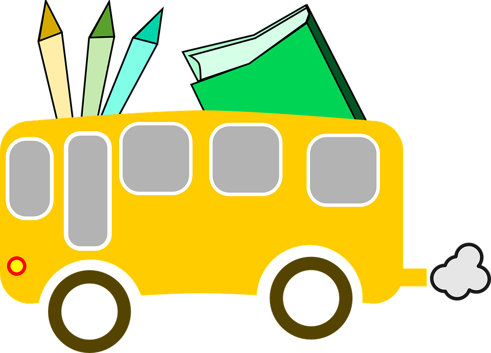 Clipart bus library. Stationery cliparts shop of