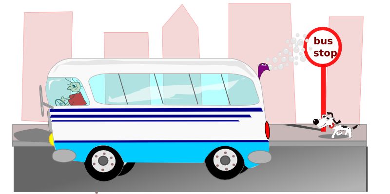 Stop the pencil and. Driver clipart bus conductor
