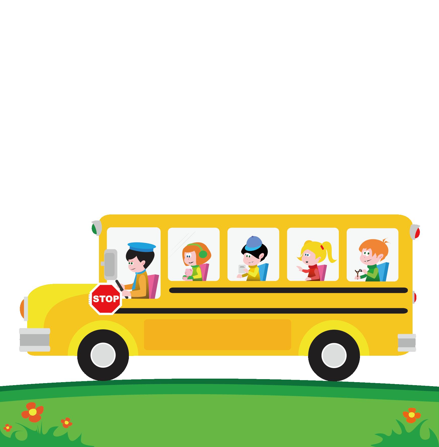 Clipart bus long bus. School cartoon clip art