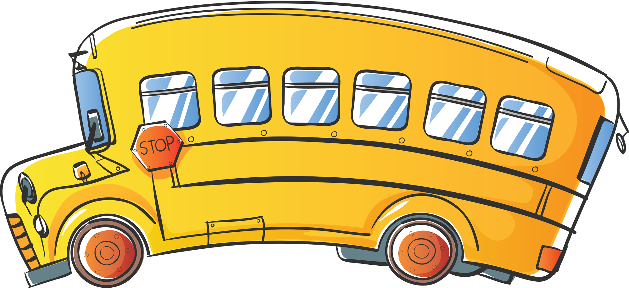 Coloring clipart bus.  fresh school free