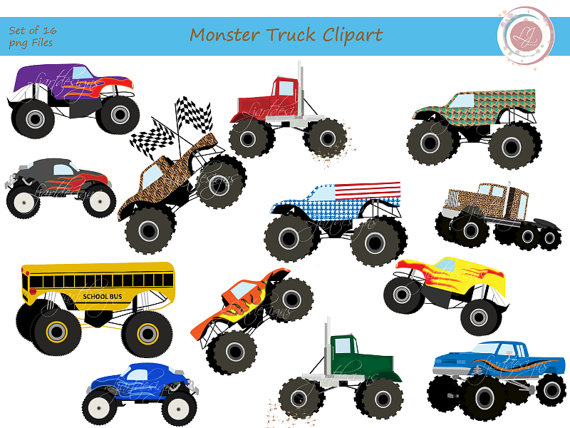 Truck crafts scrabooking . Clipart bus monster