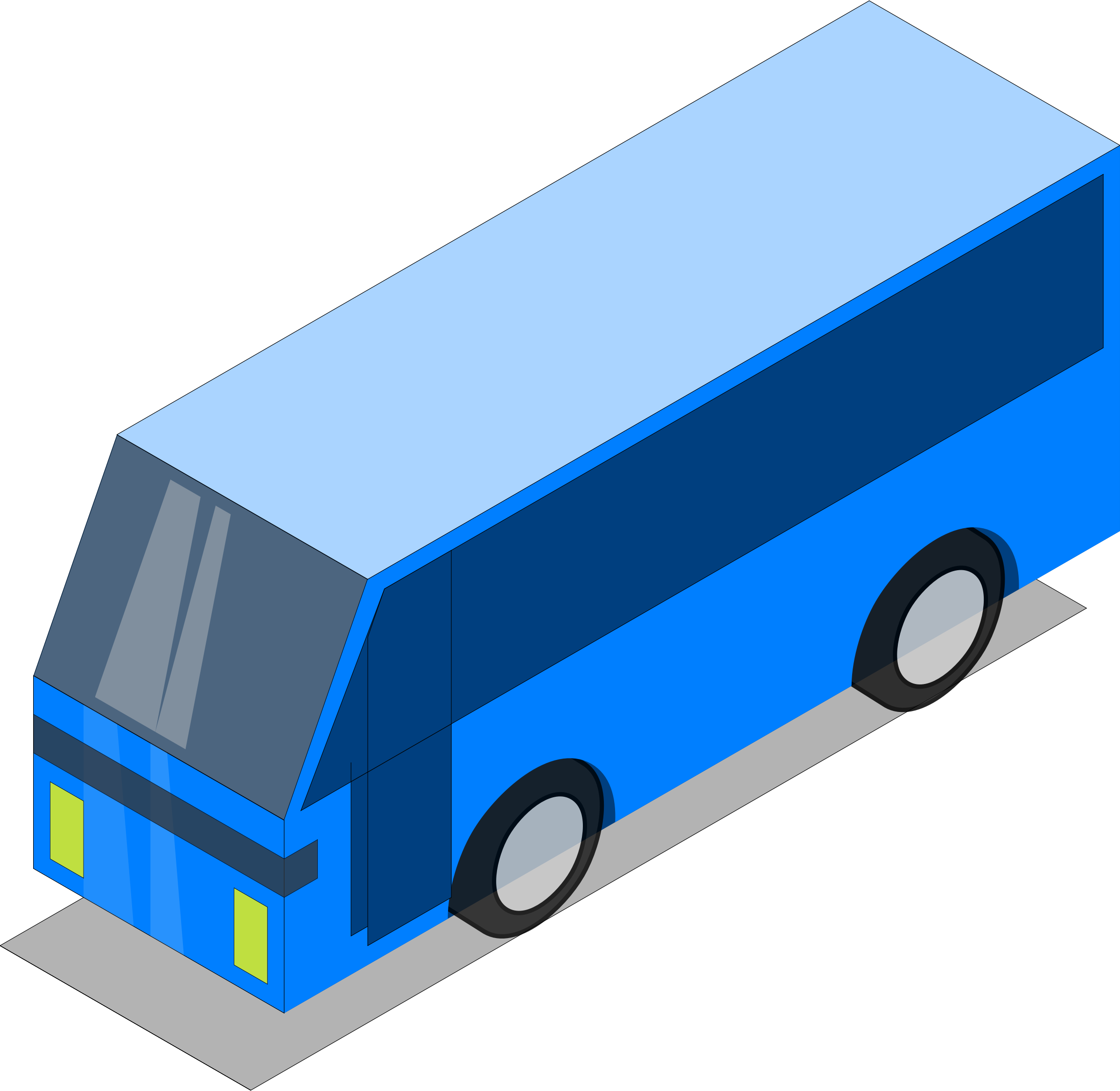 Clipart bus on road. Blue big image png