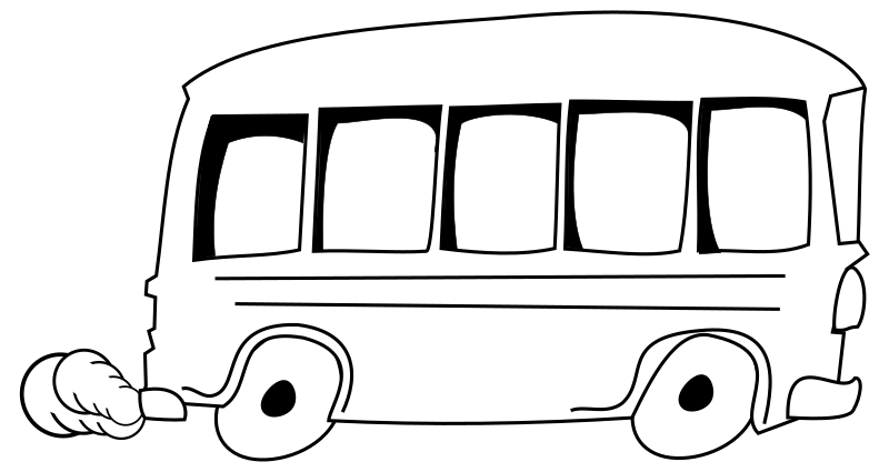 Medium image png . Clipart bus on road