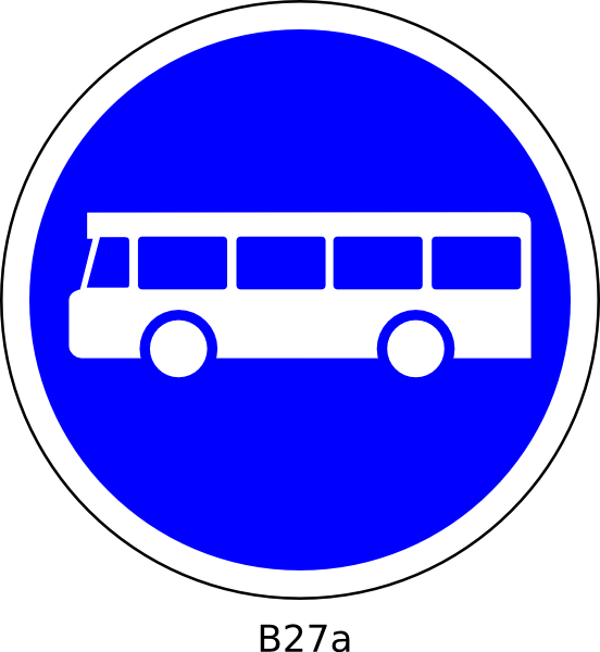 Station sign clip art. Clipart bus on road