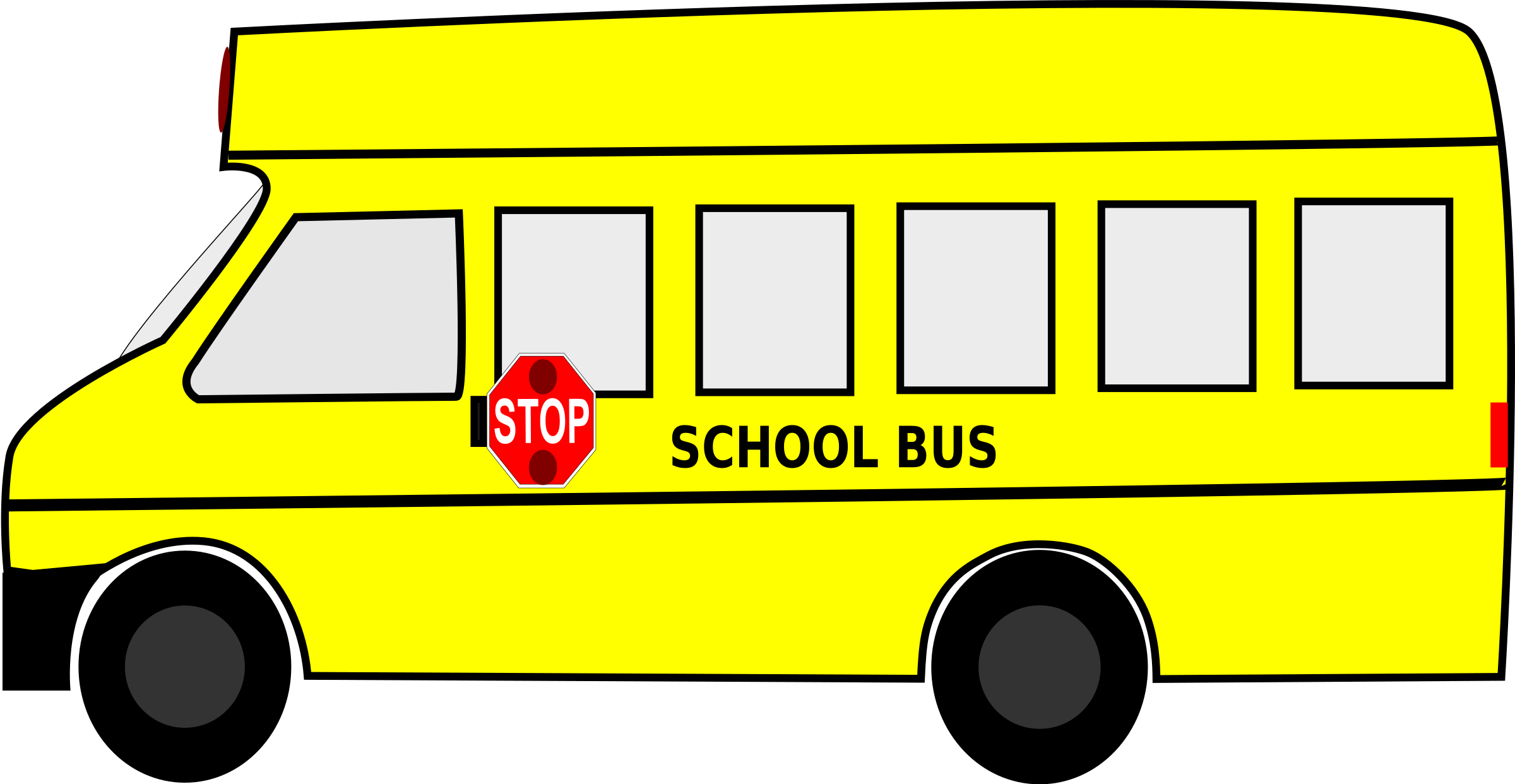 Clipart bus on road. School big image png