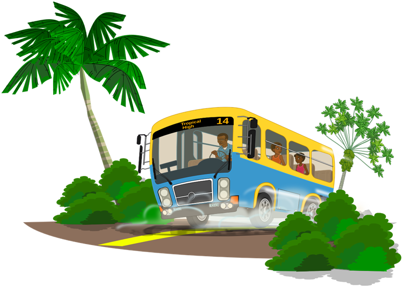 Traveling clipart charter bus.  collection of journey