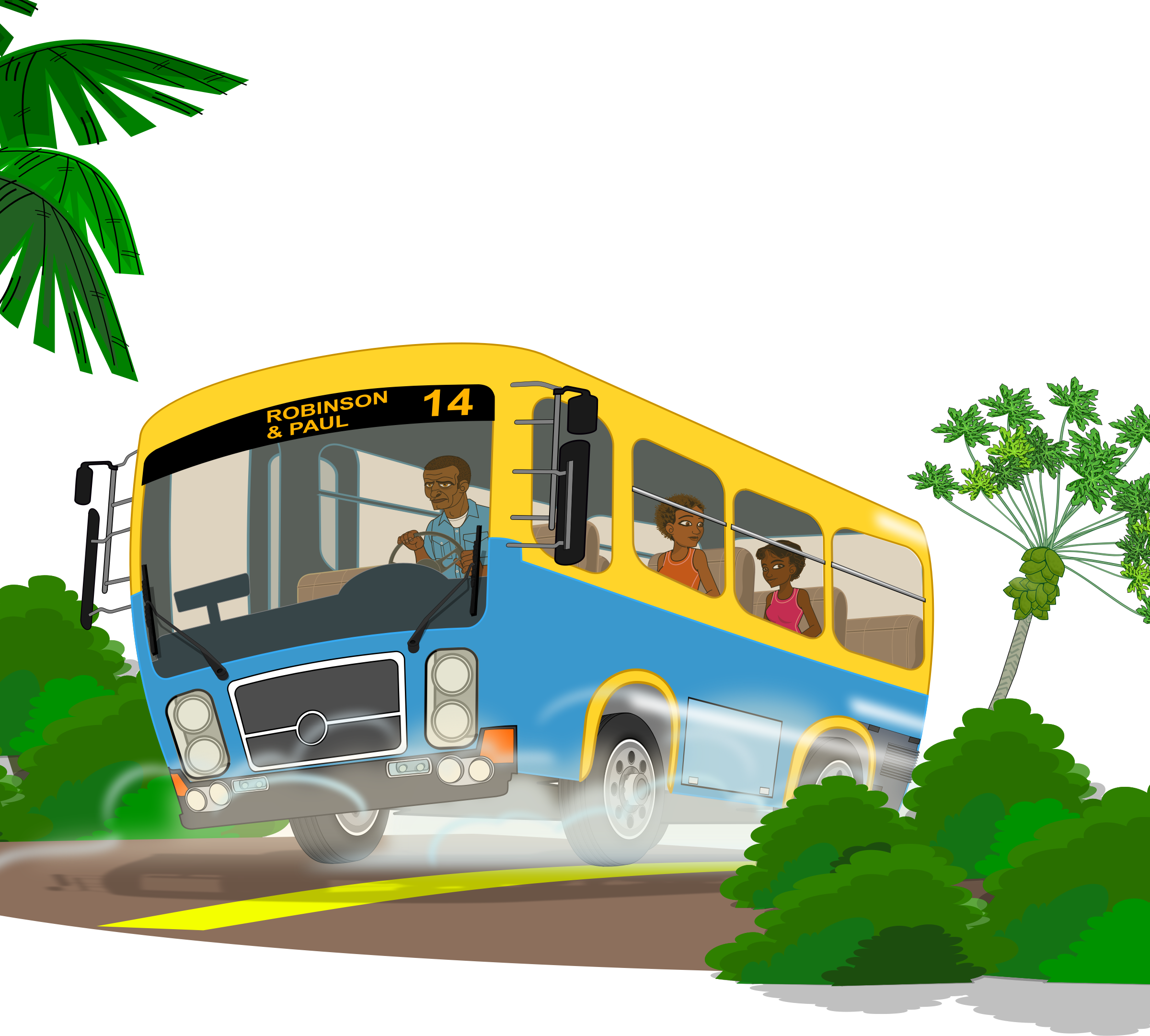 Island clipart cartoon.  collection of bus
