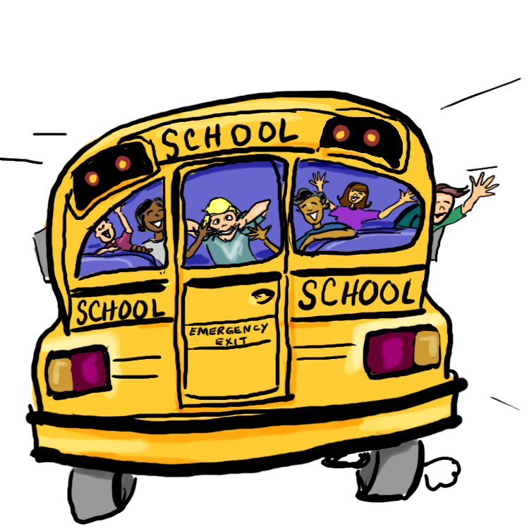 collection of bus. France clipart animated