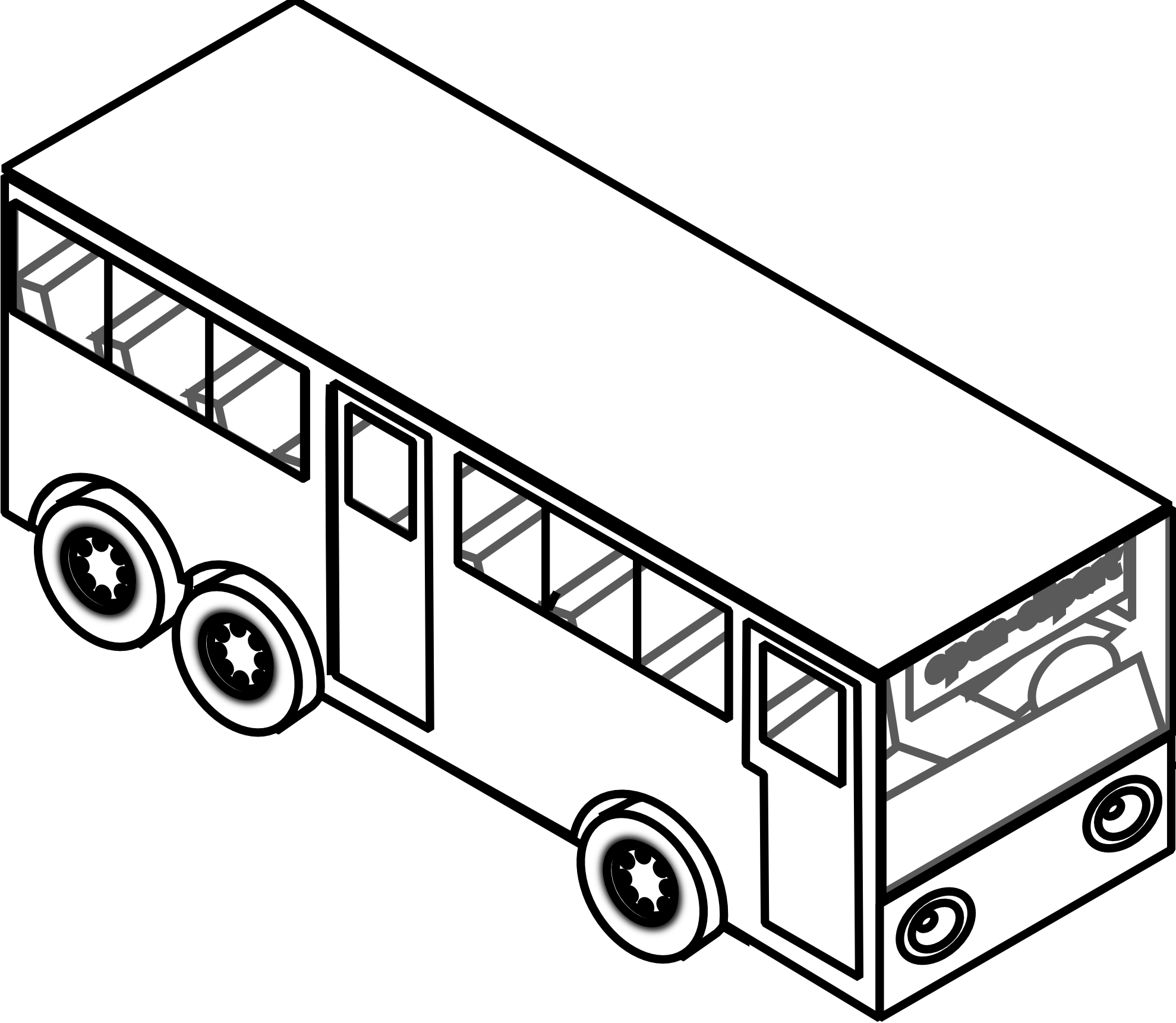 Coloring clipart bus. Drawing images at getdrawings