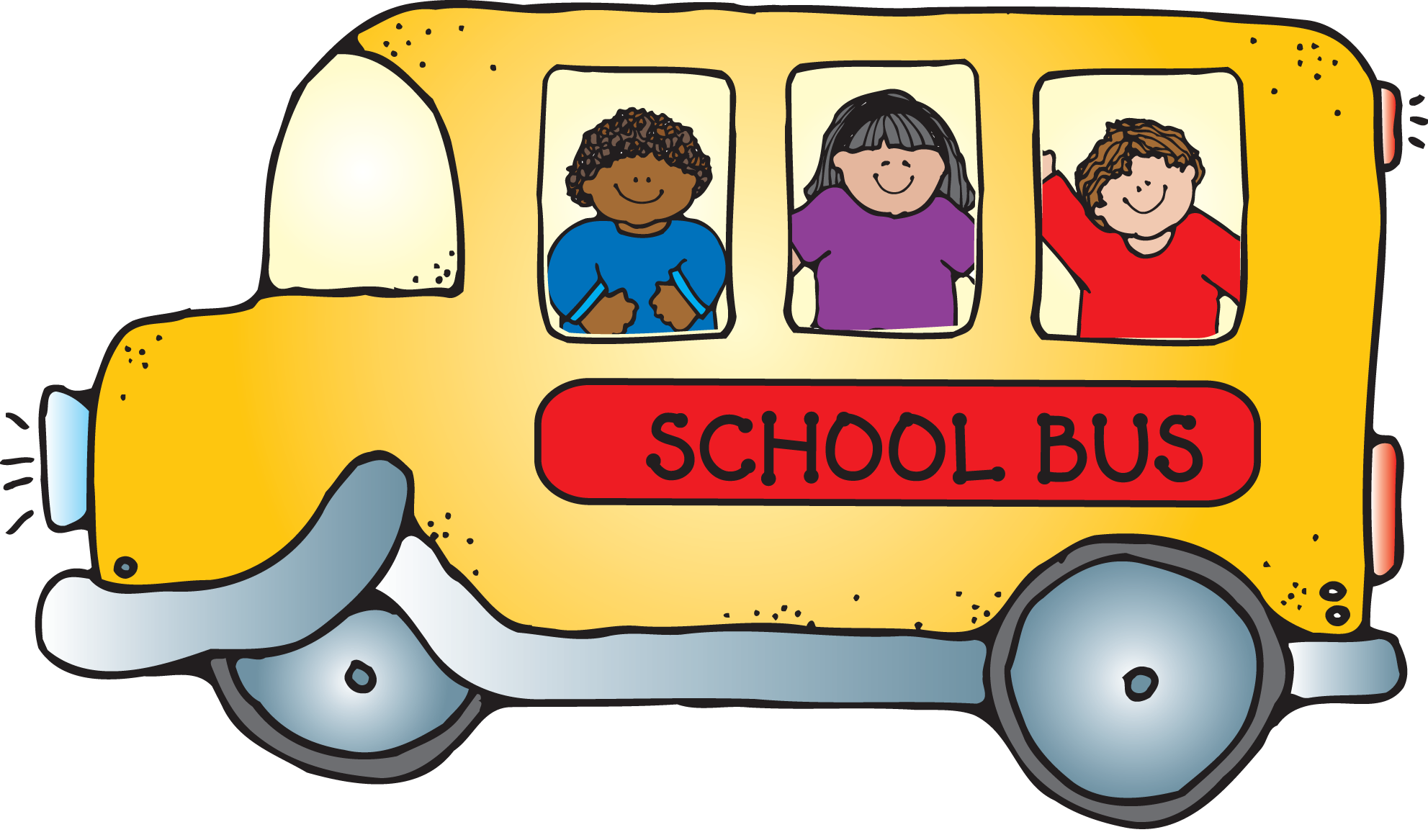 Minivan clipart cute. School bus children png