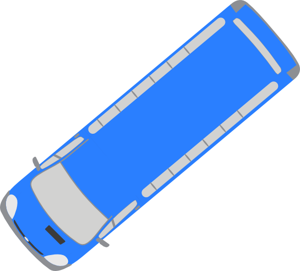 Clipart bus rectangle. Blue clip art at