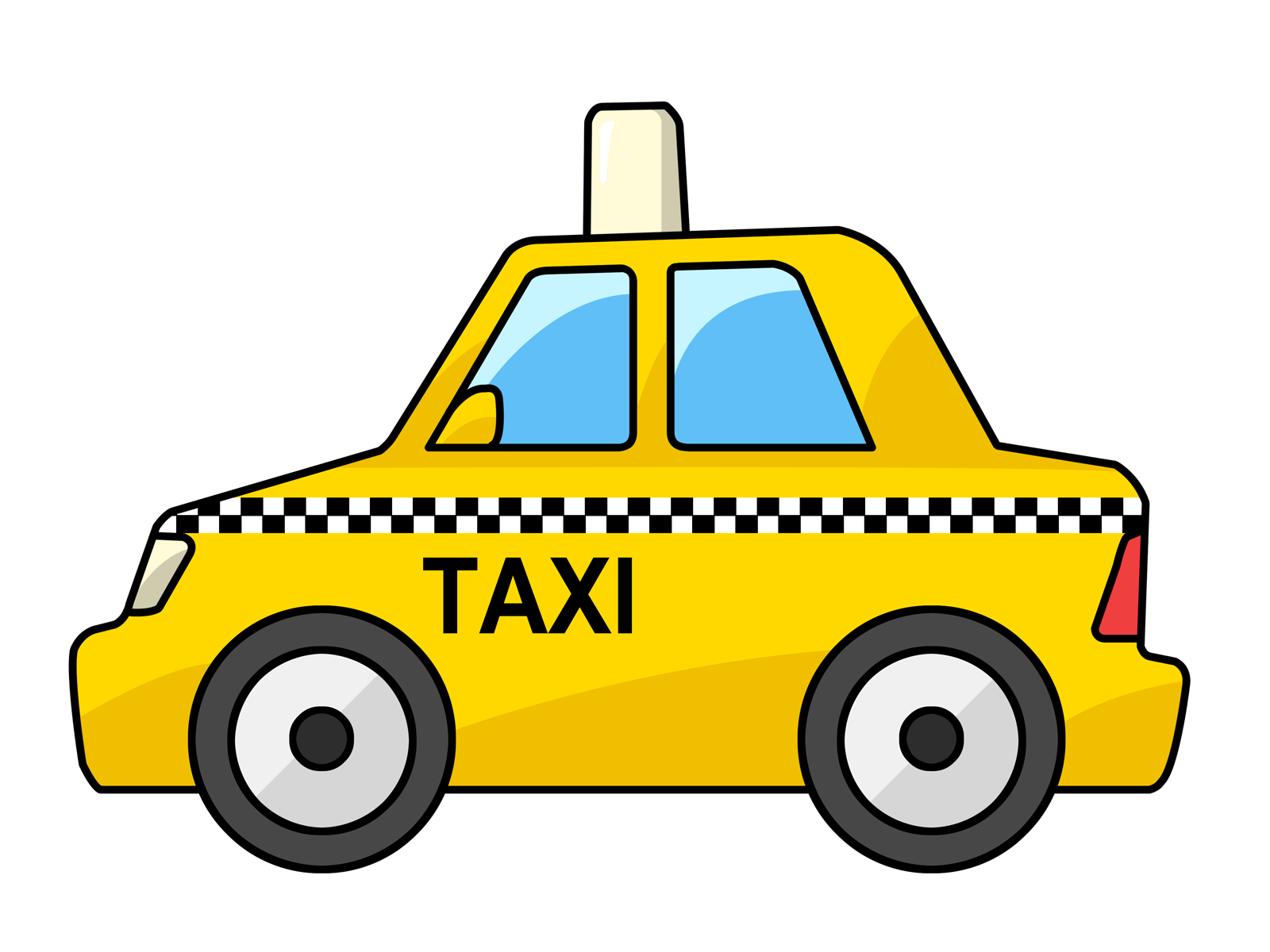 Yellow cab outline color. Clipart bus repair