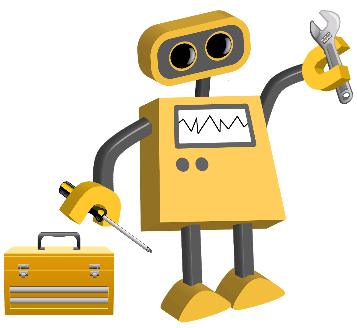 Technology clipart executive functioning. Color cartoons tim robot