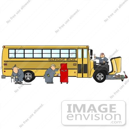Mechanic cliparts making the. Clipart bus repair