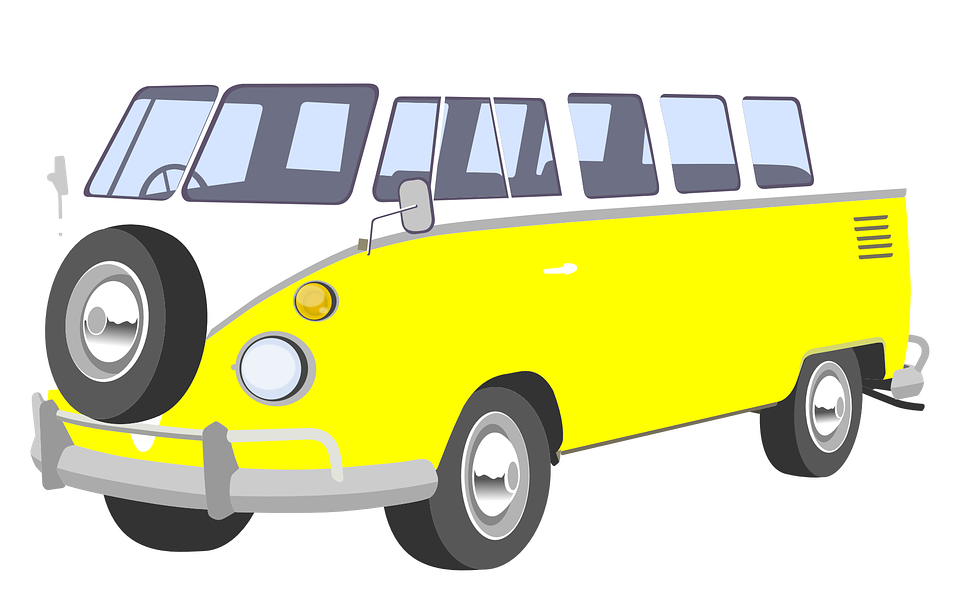 Minivan clipart mini bus. Vw png volkfest pinterest