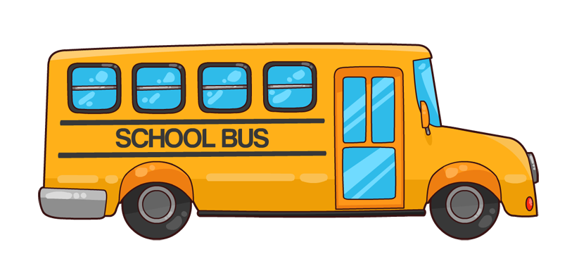 Home bus routes. Transportation clipart 5 land