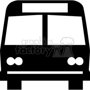 Clipart bus shadow. Cartoon outline royalty free