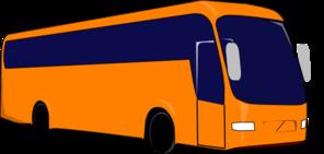 Clipart bus shadow. Orange no clip art