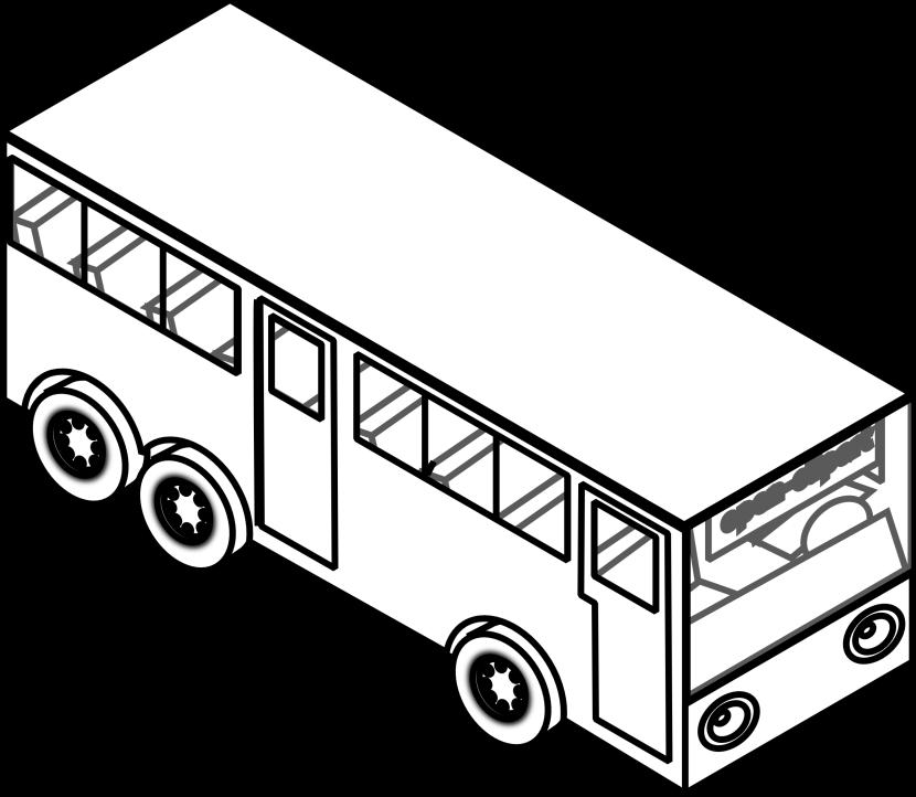 Outline Clipart School Bus Outline School Bus Transparent Free