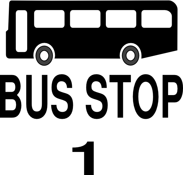 Stop clip art at. Clipart road bus route