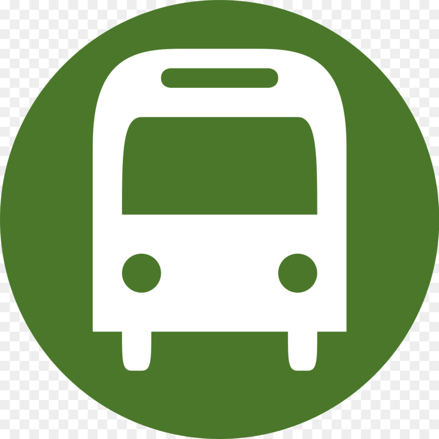 Clipart bus symbol. Green grass background text