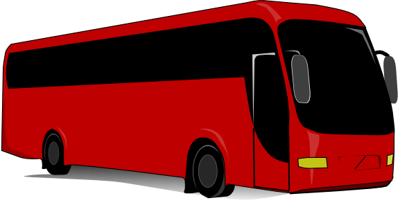 Red clip art at. Clipart bus tour